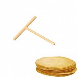 Râteau racloir à crêpes rond en bois de hêtre 13,5 cm