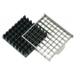 COUPE FRITES 2 grilles inox 9 et 12 mm -boite