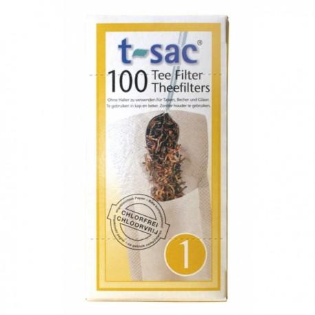 Sachets filtres à thé x100 taille 1