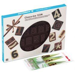 """MOULE 26 CHOCOLATS """"CHOCO-ICE 123"""" silicone marron -boite"""