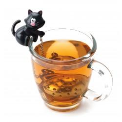 Boule à thé chat/poisson «Meow» blanc ou noir