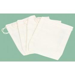 Sachet à épices réutilisable x4 en coton 7,5x9x5cm